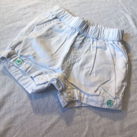 3-6 Month White Shorts